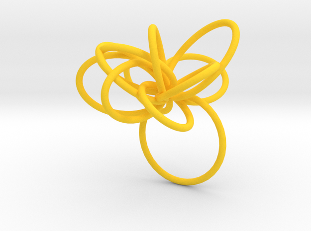 Flora Ring B (Size 8) 3d printed
