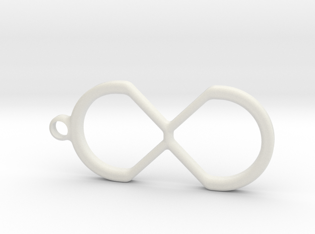 Creative-X Infinite Possiblities Keychain  in White Natural Versatile Plastic