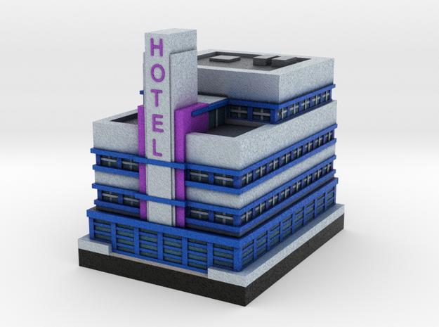 Miami Art Deco Hotel 2 x 2 3d printed