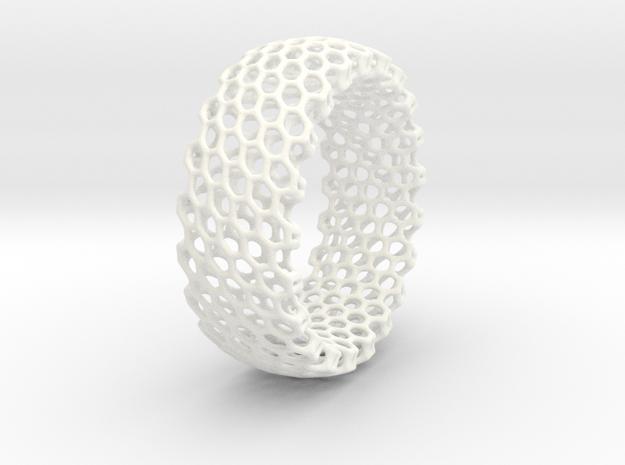 Regular Bracelet in White Processed Versatile Plastic