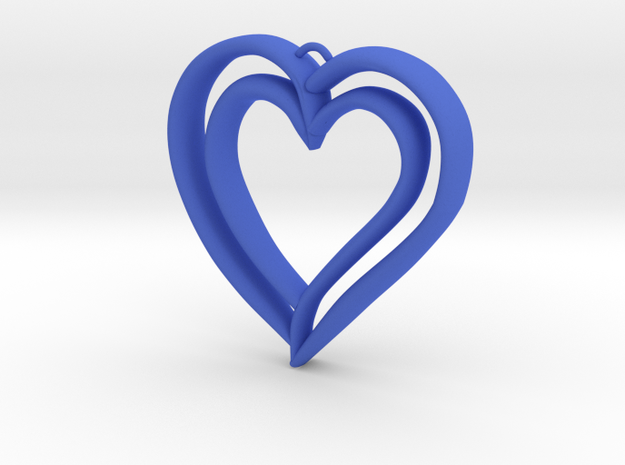 Heart Pendant in Blue Strong & Flexible Polished