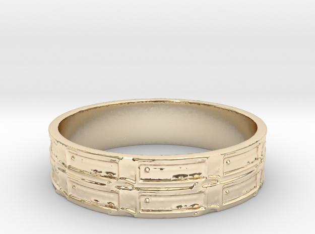 Qbit Ring Size 11.75 in 14K Yellow Gold
