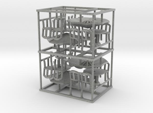 Sidewalk Cafe Set x4, HO Scale (1:87) 3d printed
