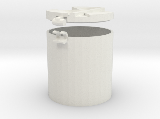 3cm Container in White Natural Versatile Plastic