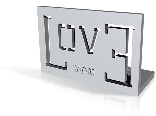 love you2 3d printed