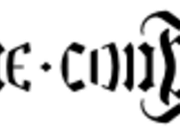 Fiderum Möbius strip 3d printed Ambigram on the surface