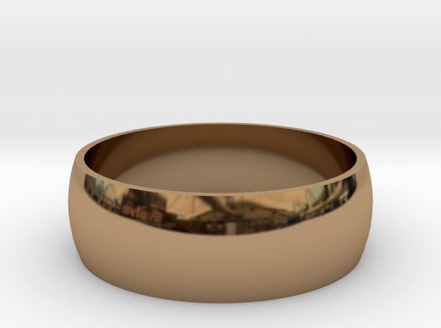 10.5 223-Designs Bullet Button Ring Size  in Polished Brass