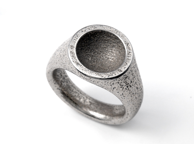 Grail Ring 3d printed Stainless Steel