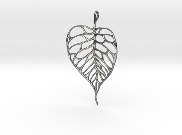 Heart Shaped Leaf Pendant: 5cm 3d printed