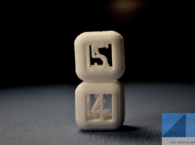 2 Pack Rounded Hollow Dice 3d printed