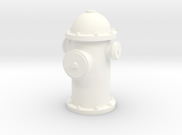 Hydrant in White Strong & Flexible Polished
