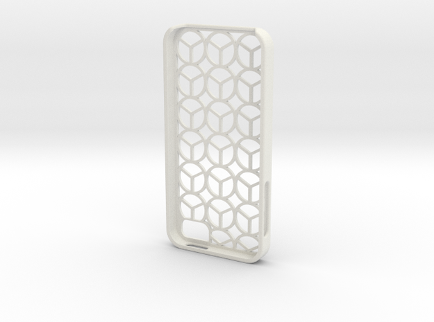 Iphone 5 case peace in White Strong & Flexible