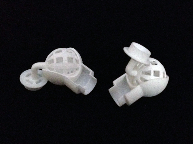 Shoulder Ball Joint for 1/2 Inch PVC Pipe in White Strong & Flexible
