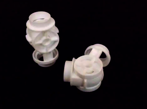 Knee Joint for 3/4 PVC Pipe in White Strong & Flexible
