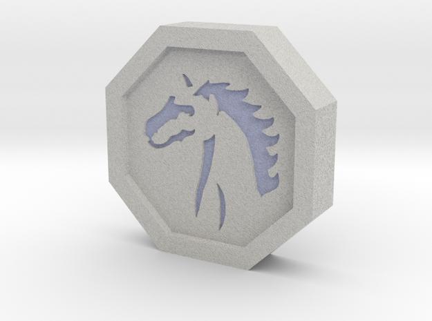 Horse Talisman in Full Color Sandstone