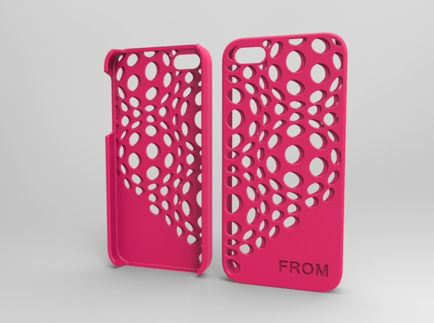 Iphone5 Case 2_1 in Pink Strong & Flexible Polished