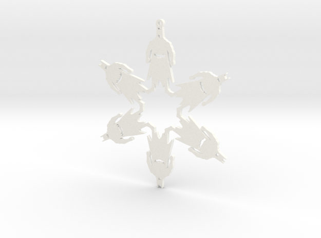 Snowflake Batman Ornament  3d printed