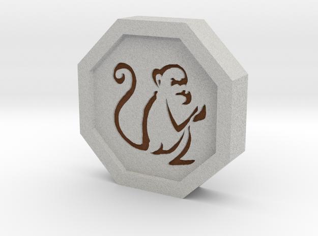 Monkey Talisman in Full Color Sandstone