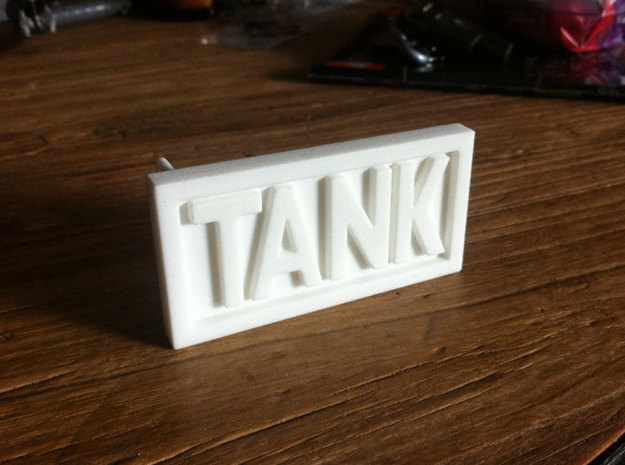 TANK belt buckle in White Natural Versatile Plastic