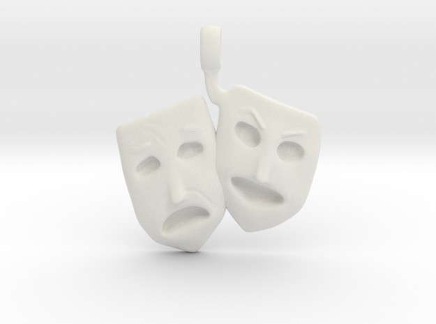 Theatre Faces Necklace 3d printed