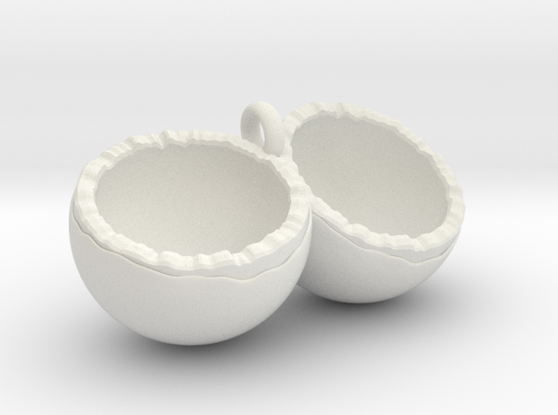 Coconut in White Natural Versatile Plastic