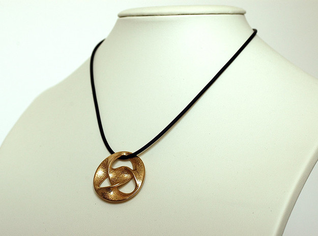 All is one  ( pendant ) in Polished Gold Steel