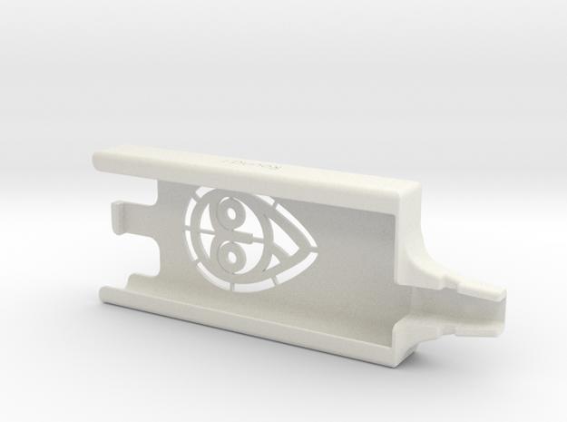ROUND I: Dexcom Nightscout Case in White Natural Versatile Plastic