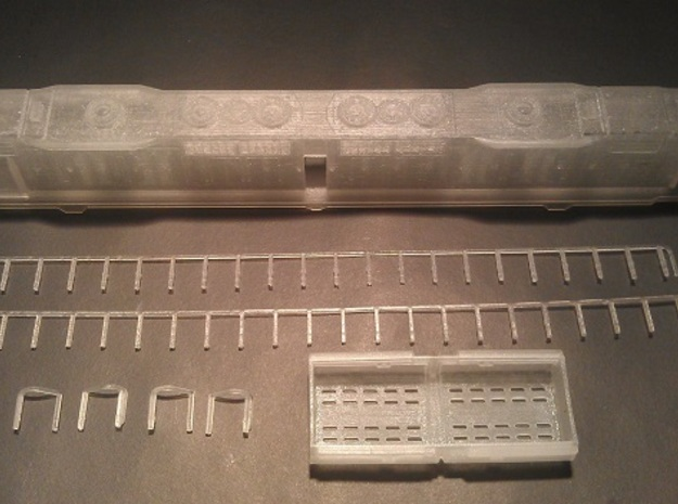 EMD DD35 N Scale 1:160 3d printed DD35 Kit