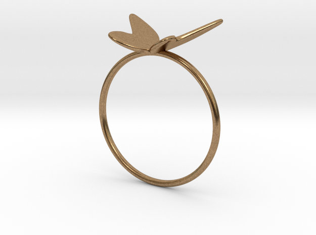 Butterfly Ring (size 7 US) in Natural Brass