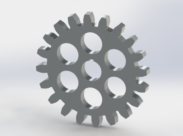 Involute Gear in White Strong & Flexible