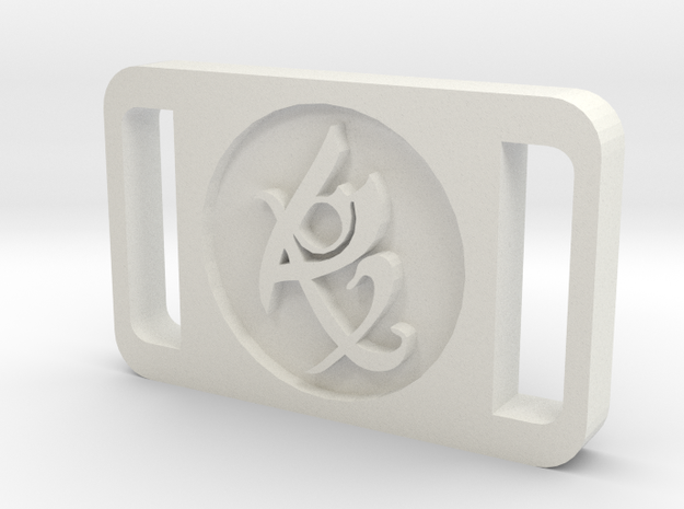 TMI Fearless Rune Buckle in White Strong & Flexible