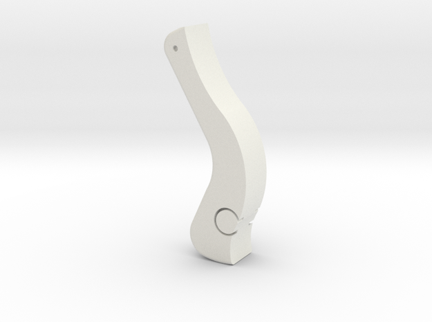 Rotation Control Trigger 1:1 in White Natural Versatile Plastic