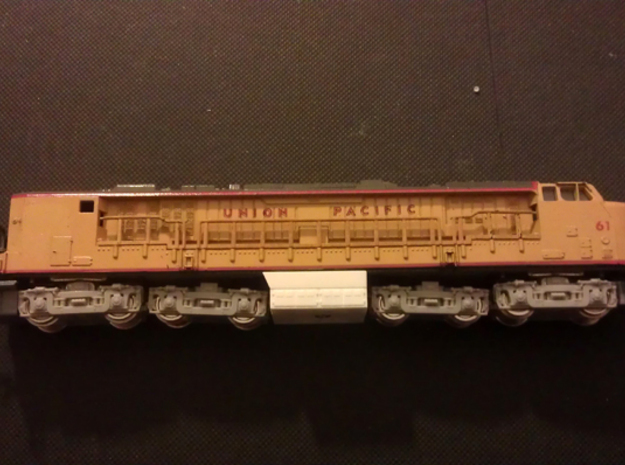GE Gas Turbine Battery Box x2 - (N Scale) 1:160 in Smooth Fine Detail Plastic