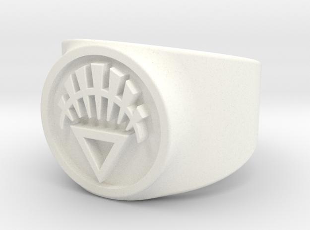 White Life GL Ring Sz 8 3d printed