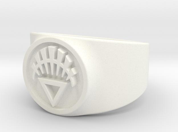 White Life GL Ring Sz 13 3d printed