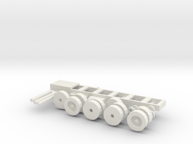 Mack MR Chassis, tires, spacers, axles in White Natural Versatile Plastic