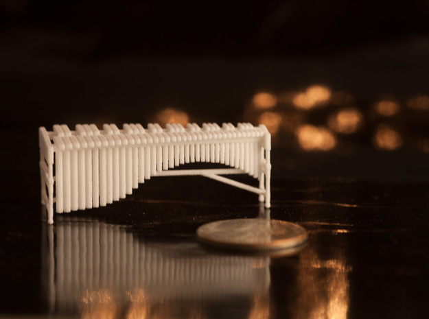 1:48 Marimba in White Natural Versatile Plastic
