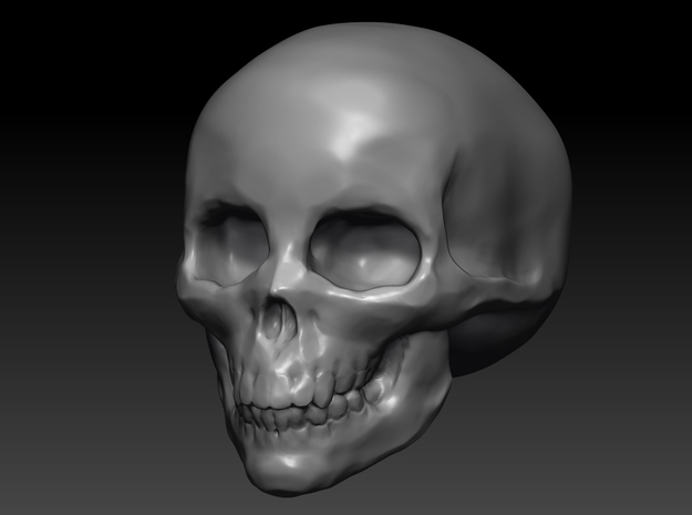 small skull hollow in White Processed Versatile Plastic