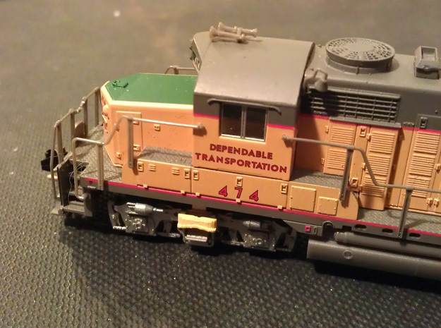 32 No. Re-Railers Type 2 Truck Mount N Scale 1:160 in Smooth Fine Detail Plastic