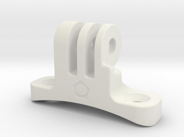 Go-pro-Helmount in White Natural Versatile Plastic