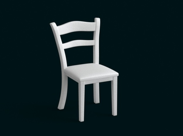 1:39 Scale Model - Chair 01 in White Natural Versatile Plastic