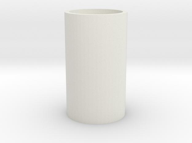 Ice Glass  in White Natural Versatile Plastic