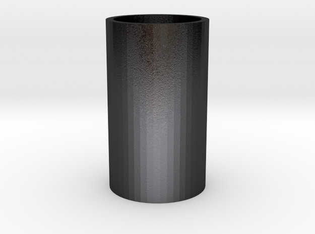 Ice Glass  in Polished and Bronzed Black Steel