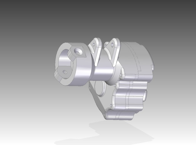 4 Portalachse/Portal Axle v2.03 lock-out  3d printed CAD rendering