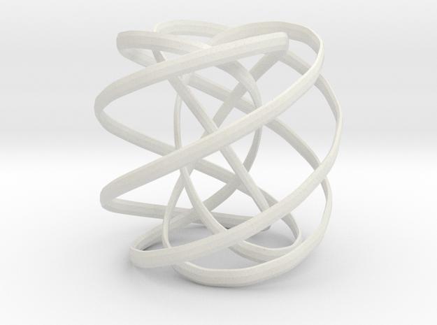 Spiral decoration in White Natural Versatile Plastic