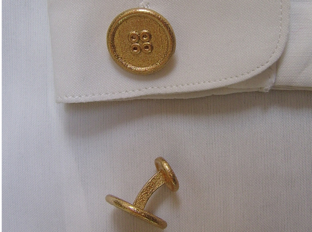 ButtonCufflinks 3d printed