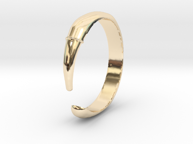 Single Claw Ring - Sz. 6 in 14K Yellow Gold