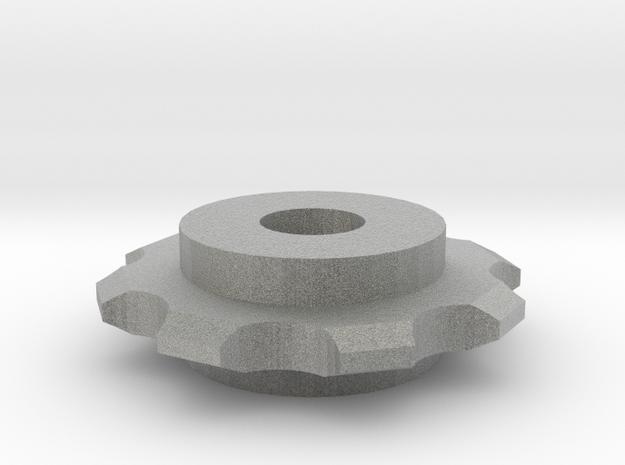Hex Nut Sprocket in Metallic Plastic