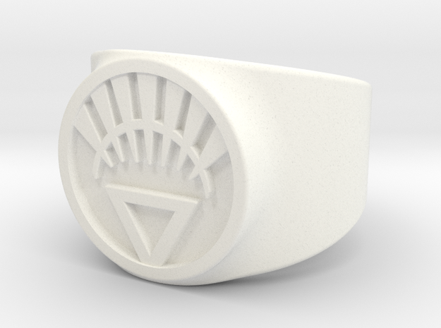 White Life Ver 2 GL Ring Sz 7 3d printed