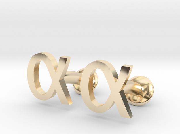 Alpha Cufflinks 3d printed